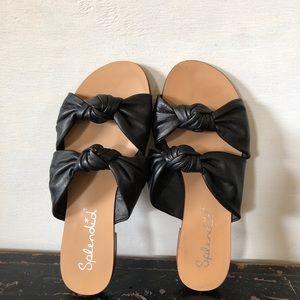Splendid Barton Black Double Knotted Slide Sandal